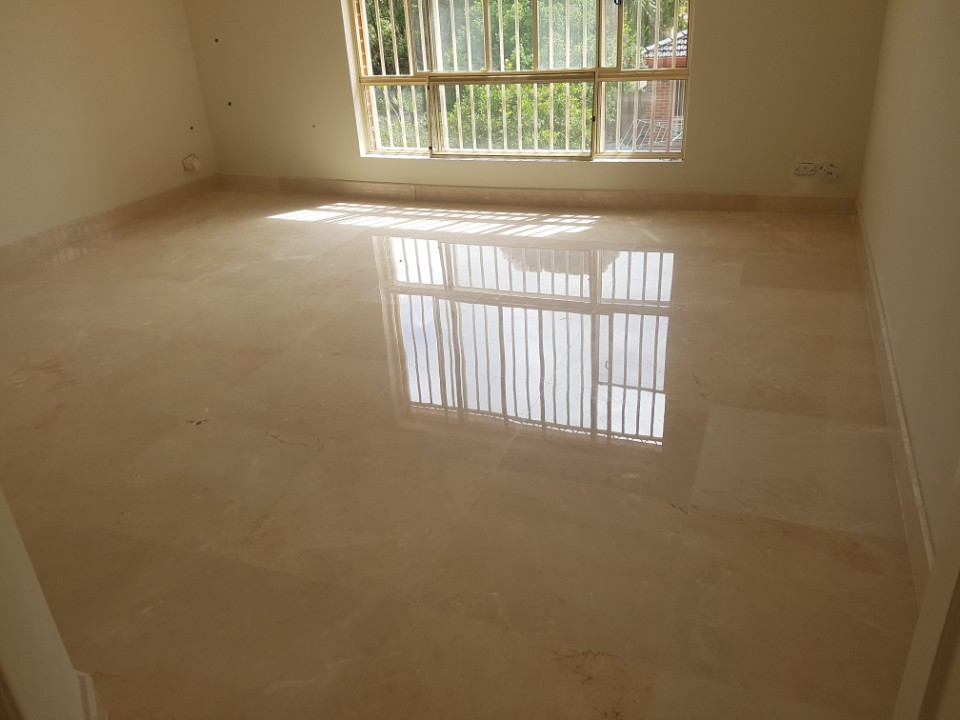 domestic floor tiling